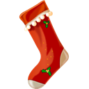 10, christmas Black icon