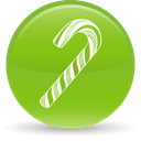 christmas, Candy YellowGreen icon