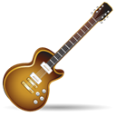 music, guitar, rock, instrument Black icon