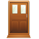 Close, logout, Exit, Door SaddleBrown icon