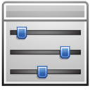 program, sliders Silver icon