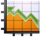 graph, chart, stock DarkOrange icon