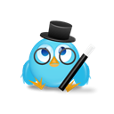 twitter, bird, magician Black icon