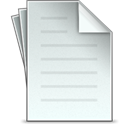 papers, document, File Gainsboro icon