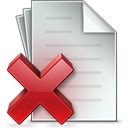 document, delete LightGray icon