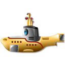 Submarine, yellow Black icon