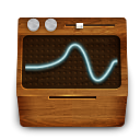 Monitoring, wooden SaddleBrown icon