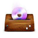 Dvd, Cd, itunes, wooden SaddleBrown icon