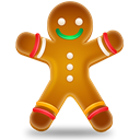 cookie, christmas, Candy Black icon