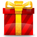christmas, gift, present, Prize Red icon