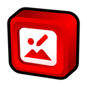 manager, office, picture, microsoft Red icon