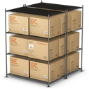 warehouse, Shipping, Products, shelf, palet, Goods, shipment RosyBrown icon