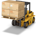 warehouse, Forklift Black icon