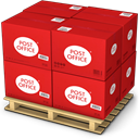 Products, Shipping, Goods, shipment, warehouse, palet Crimson icon