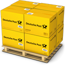 deutche post, Products, Boxes, warehouse, shipment, Shipping, palet, Goods SandyBrown icon