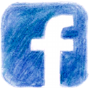 Facebook, pencil SteelBlue icon