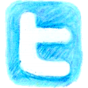twitter, pencil LightSkyBlue icon