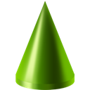 cone, green OliveDrab icon