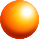 Ball, Orange, Sphere DarkOrange icon