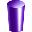 Cylinder, purple Indigo icon