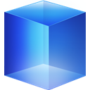 Blue, cube RoyalBlue icon