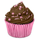 Choco, cocos, cupcake DarkOliveGreen icon