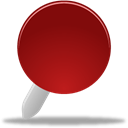 pin, red Black icon