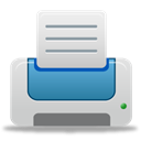 Blue, printer LightGray icon