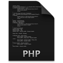 Php Black icon