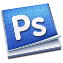 adobe, photoshop RoyalBlue icon