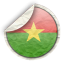 Burkina, faso Black icon