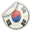 south, Korea Black icon