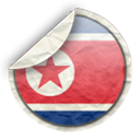 north, Korea Black icon