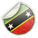 St, And, nevis, kitts Black icon