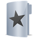 Folder, star, Favourites Silver icon