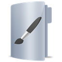 Folder, Brush, Art Silver icon