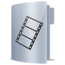 Movies, film, Folder Silver icon