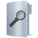search, Folder Silver icon