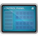 screen, monitor, Control panel SteelBlue icon