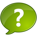 question mark, Ask, Chat, support, talk Olive icon