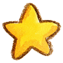 Favorite, bookmark, star Gold icon