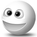 whack, smiley, happy face, yahoo, Messenger Black icon