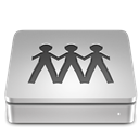 Server, Aluport Silver icon