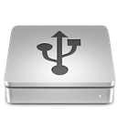Usb, Aluport Silver icon