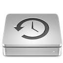 time, machine, Aluport Silver icon