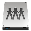 fileserver, drive DarkGray icon