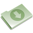 green, download, Folder Black icon
