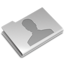 Folder, user Black icon