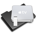Apple, apple tv Black icon