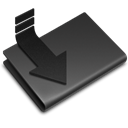 Folder, Downloads DarkSlateGray icon